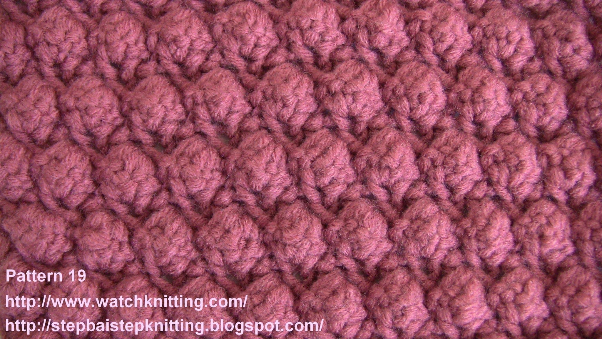 (Grape seed ) - Embossed Knitting Patterns- Free Knitting Tutorials - Watch Knitting- pattern 19