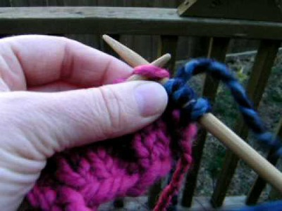 How to add yarn or change colors while knitting