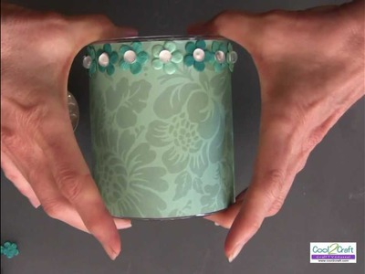 How To Create A Scrapbook Paper Candle Sleeve Using Aleene's Super Thick Tacky Glue