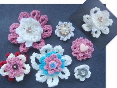 How to Crochet a Beginner Flower.