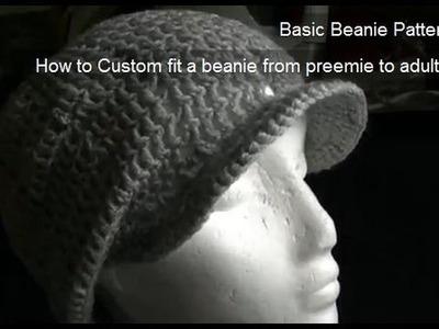 How to Crochet a Brim.Peak onto a Beanie