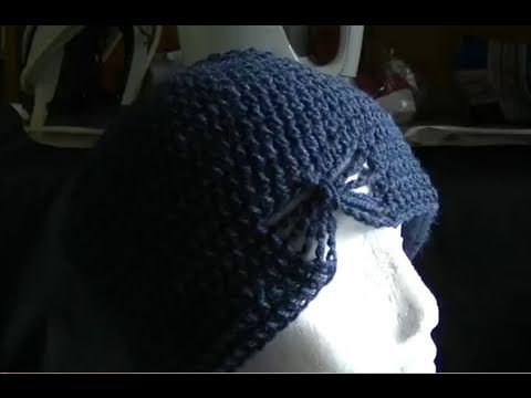 How to Crochet a Butterfly Beanie - Mini Tutorial