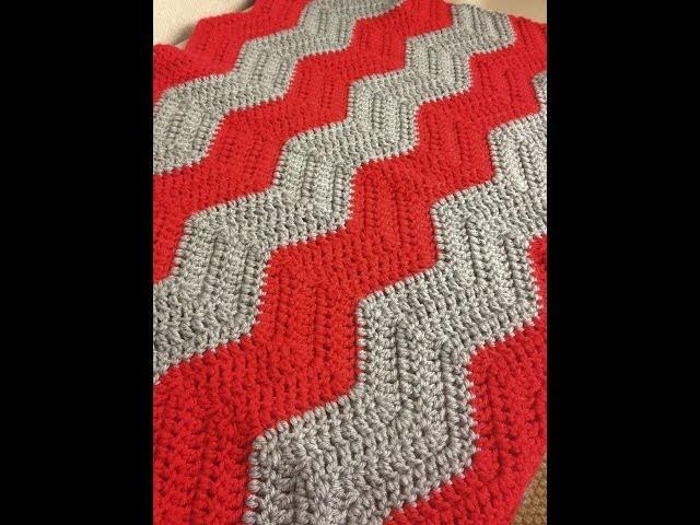 How to Crochet a Chevron Baby Blanket