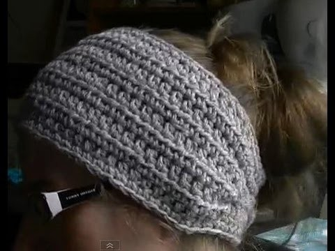 How to Crochet a Earwarmer. Headband - Part 1 of 2 - You can make a Preemie to Adult size