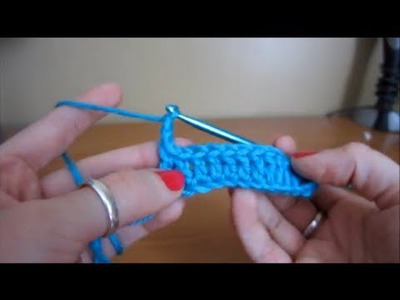 How to Crochet a Scarf - Double Crochet Stitch