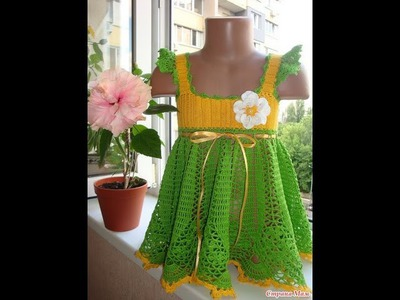 How to crochet dress for girl free pattern