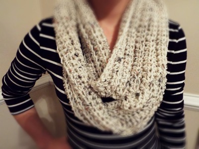 ♡ How To: Crochet Ribbed Infinity Scarf
