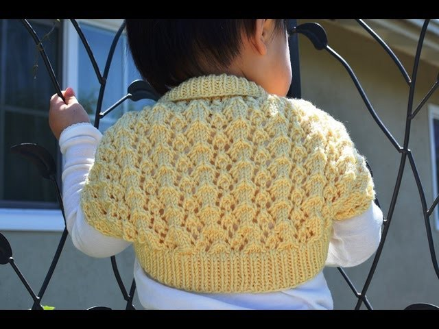 How to Knit an Easy and Lacy Baby Bolero (Shrug)