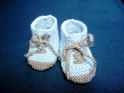 How to Knit Baby Booties Shoes Part - 1