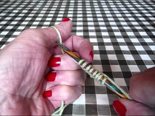 How to knit. How to Cast On using the Thumb Method.