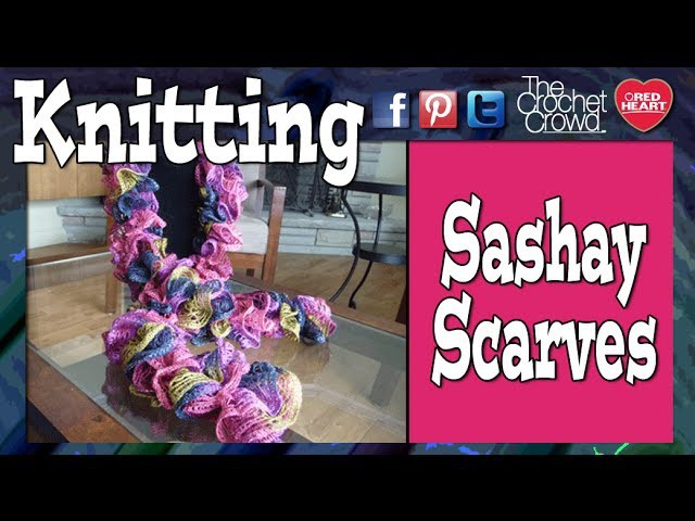 How To Knit Red Heart Boutique Sashay Scarves