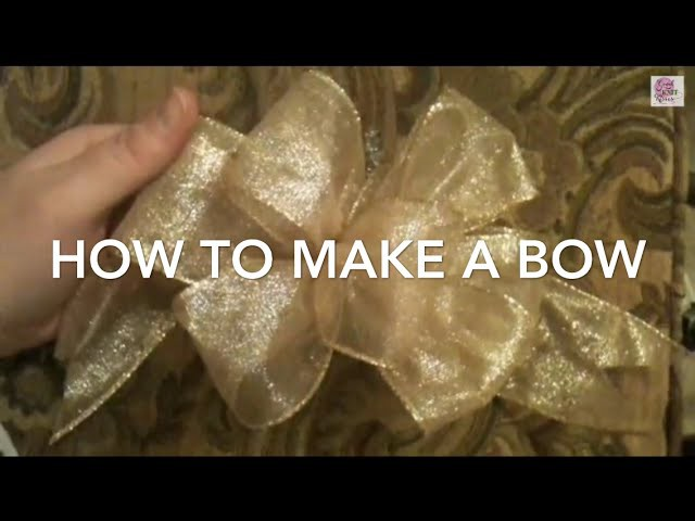 How to Make a Bow (step by step 1 video) SLOW with CC Crafts