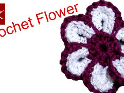 How to make a Cheerful Crochet Flower - Crochet Geek May 29 Video
