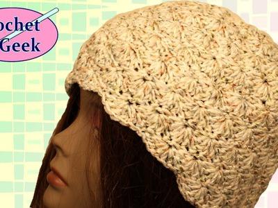 How to make a Crochet Shell Beanie Crochet Geek