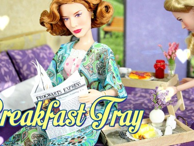 How to Make a Doll Breakfast Tray - Doll Crafts