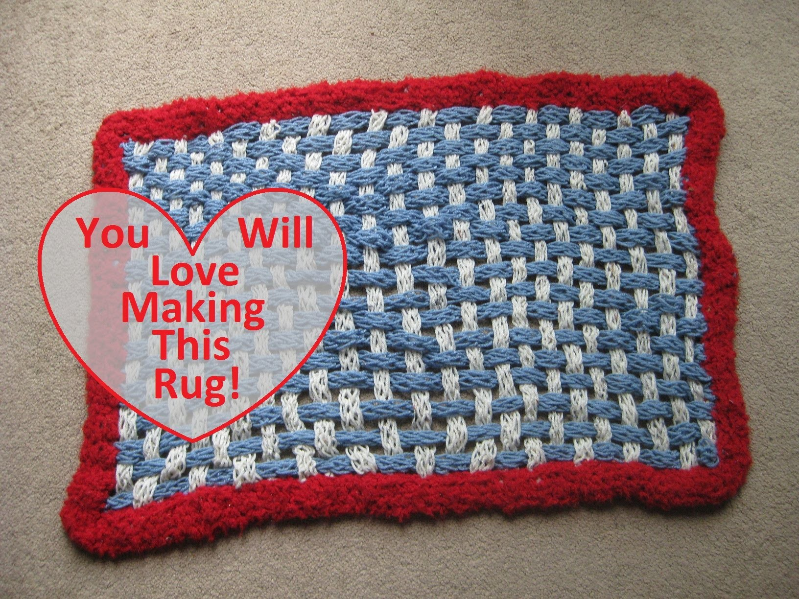 How To Make A Finger Knit Rug