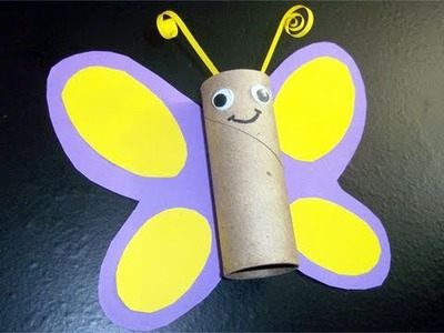 How to make a toilet paper tube butterfly - EP