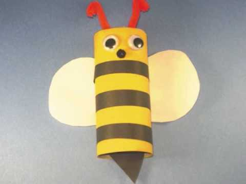 How to Make an toilet paper tube Bumble Bee - EP