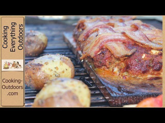 How to Make Bacon Blanket Turkey Chorizo Meatloaf on a Cedar Plank Recipe