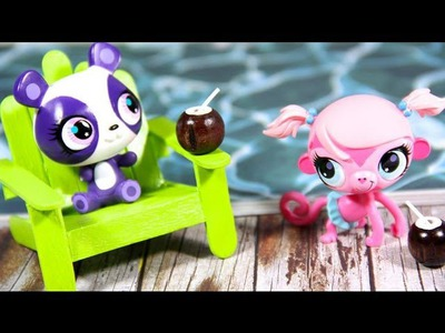 How to Make Doll Beach Chairs. Patio Chairs | Plus Bonus Craft : Coconut Milk Drink