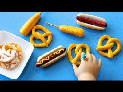 How to Make Doll Carnival Food : Hot Dogs, Funnel Cake, Corn Dogs and Pretzels