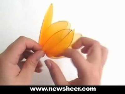 How to Make Nylon Flower (Stocking flower Tulip) -  Wedding flower