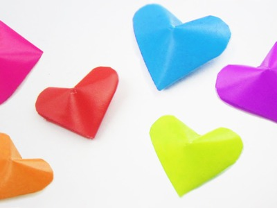 "How to make origami 3D ""lucky hearts"" + ideas on how to use them. - EP"