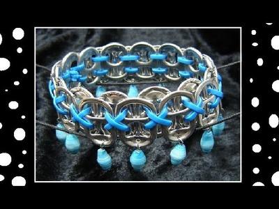 ♻ How To Make Recycled Pop Tab Jewelry - Craft Tutorial 13 (Soda Tab Bracelet Tutorial)