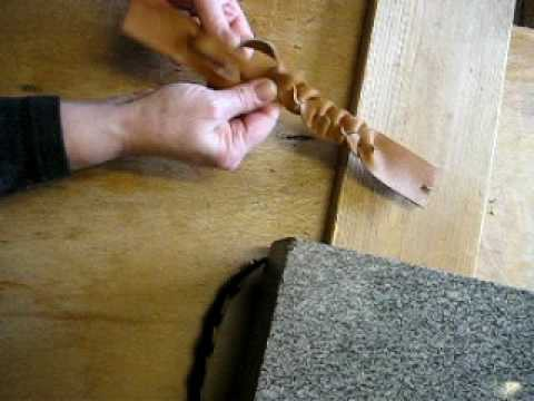 How to Make the Mystery Braid. Leather Craft