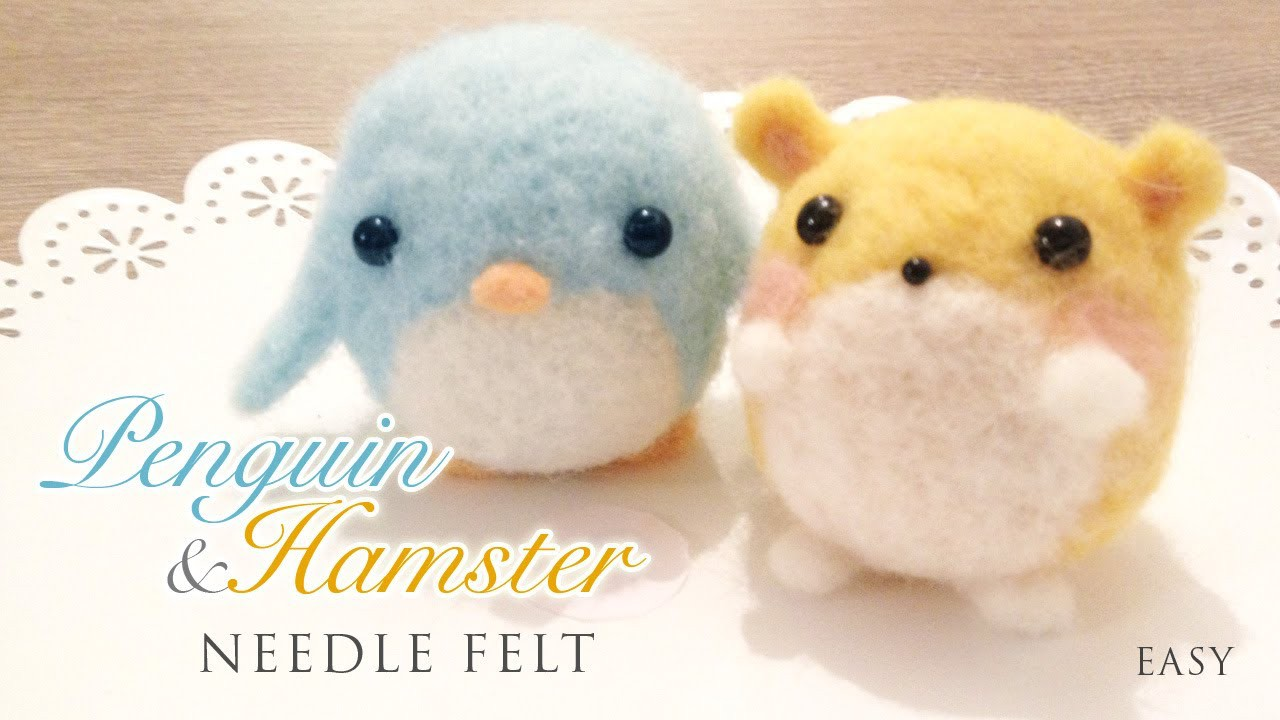 How to Needlefelt Penguin & Hamster - Kawaii ASMR Craft Tutorial