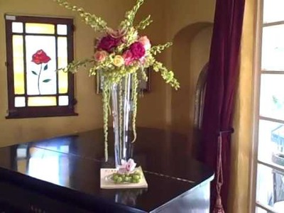 Impressive Fruit and Flowers Tall Wedding Centerpiece With Green Grapes - DIY Tutorial - Part 3