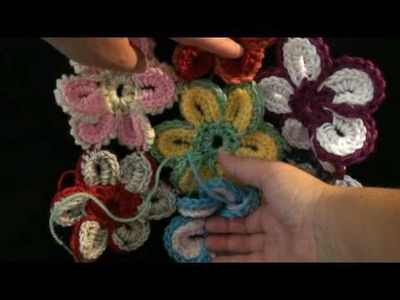 Joining the Cheerful Crochet Flower Crochet Geek