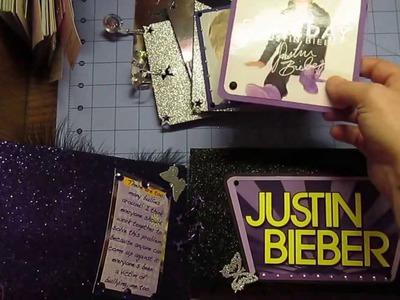 Justin Bieber Mini Paper Bag Scrapbook Album (made for my daughter)