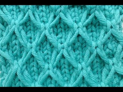 Knit with eliZZZa * Mesh pattern with Slip Stitches * Knitting Stitch