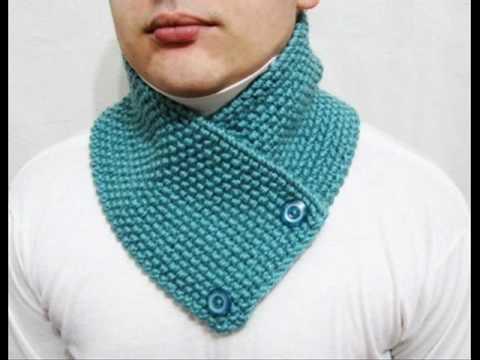 Knitting easy pattern scarf neckwarmer.  Do yourself. www.lanadearg.etsy.com.wmv