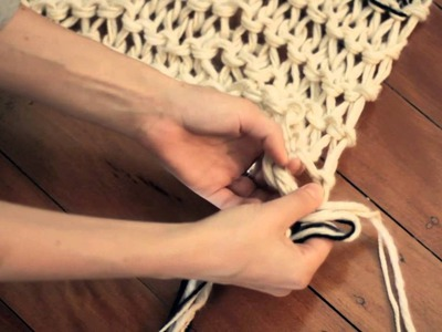 "KNOTS & KNITS ""How To Knit A Scarf"" Episode 3: Adding Tassels To Your Scarf To Finish The Look"