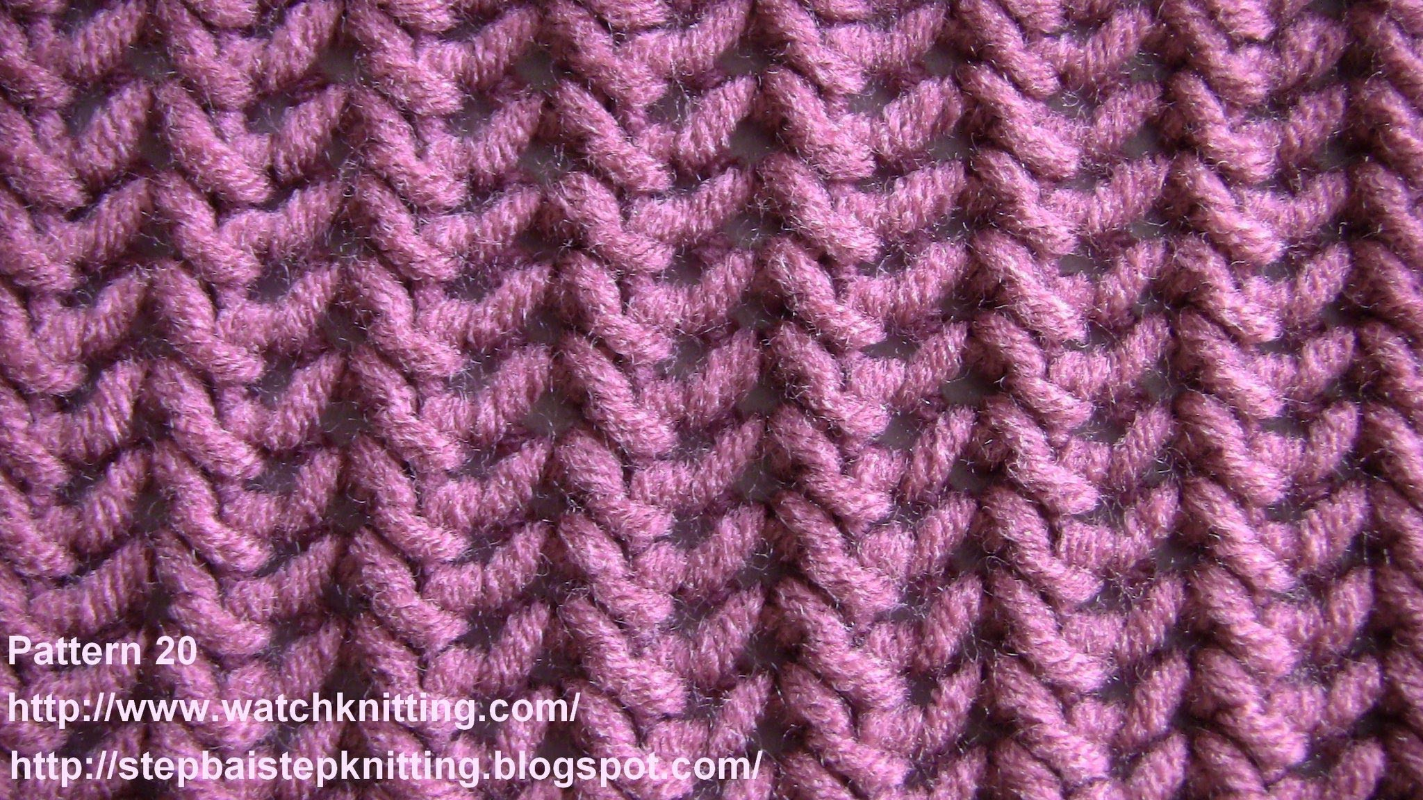 Lace Knitting Patterns - Free Knitting Tutorials - Watch Knitting- pattern 20 - Fish Thorn