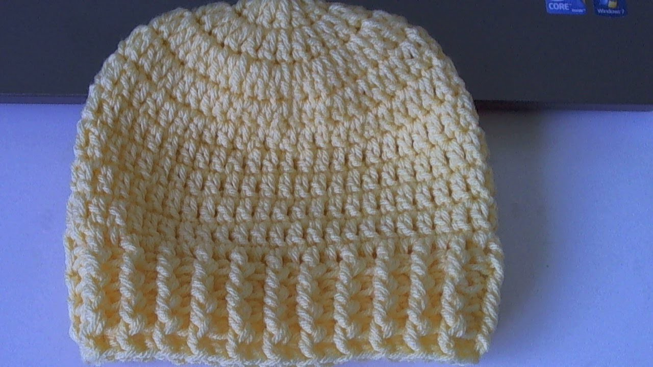 Learn to crochet Ribbed Beanie - Style 2  (tambien en Espanol)