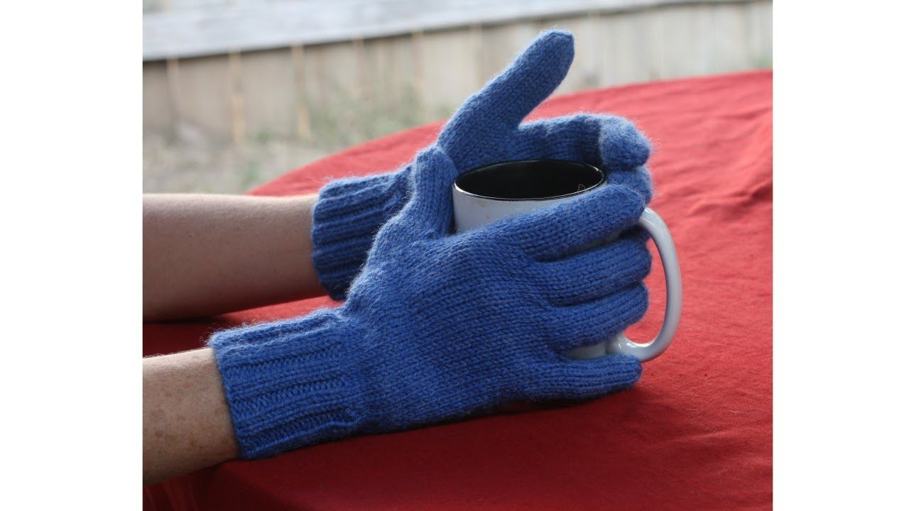 Learn to Knit Gloves, Parts 1-9