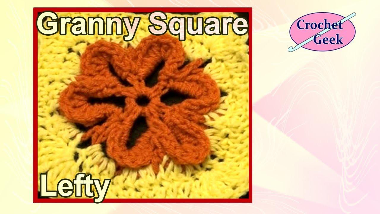 Left Hand Embossed Crochet Flower on YouTube Crochet Geek