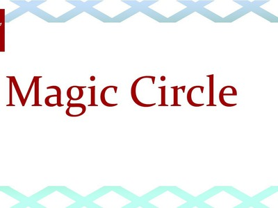 Magic Circle - Crochet Stitch Tip April 19 Video