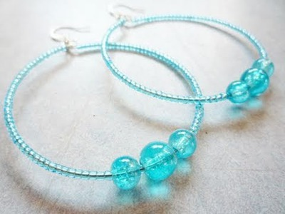 Make Your Own Boho Hoop Earrings Using Memory Wire! - Jewelry-making Tutorial