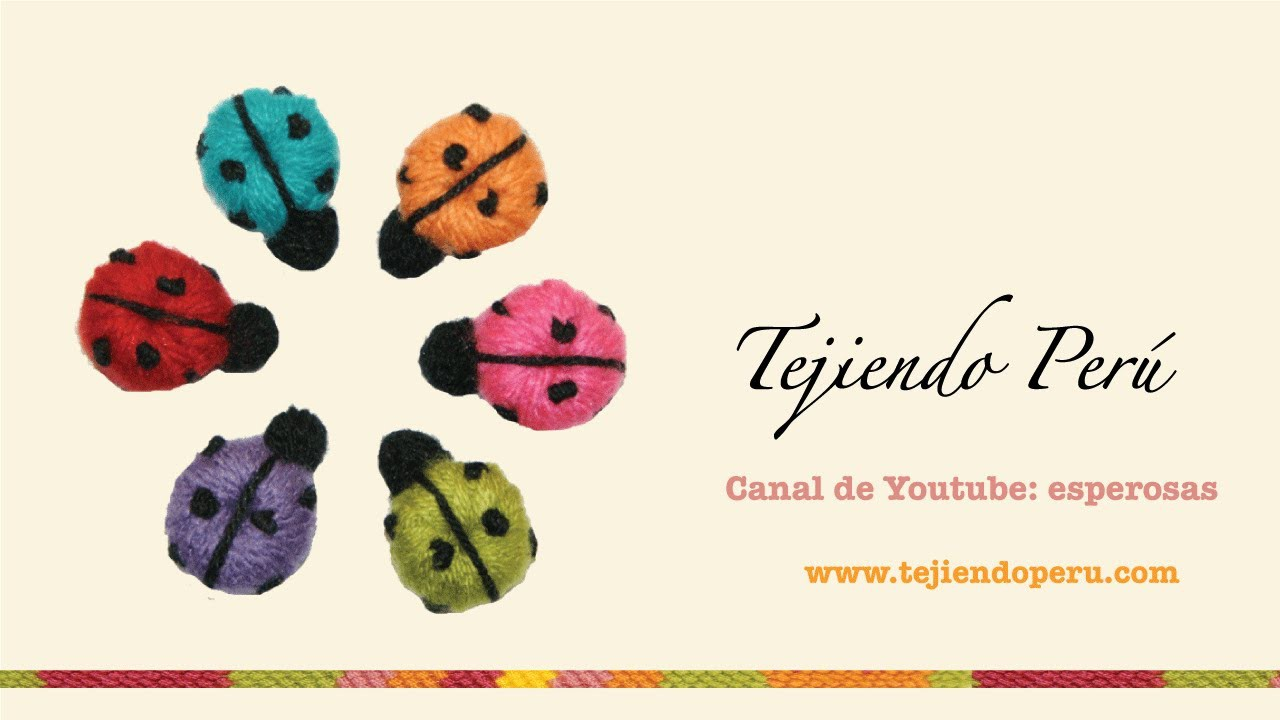 Mariquitas en crochet (crochet ladybugs)