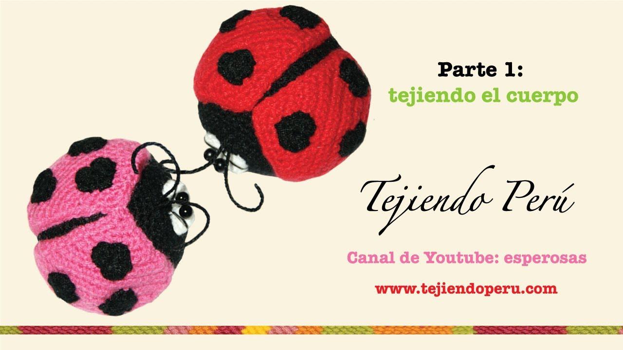 Mariquitas tejidas a crochet (amigurumi ladybugs) Parte 1: tejiendo el cuerpo