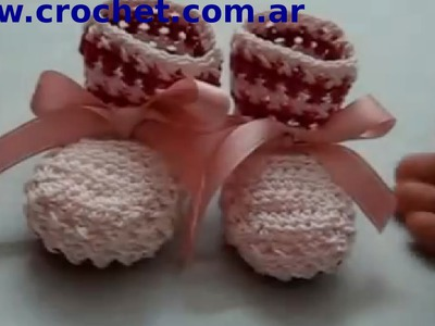 Mis Primeros Escarpines en tejido crochet tutorial paso a paso.