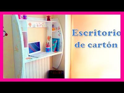 Mueble de pared hecho con cartón Diy, tutorial paso a paso, manualidades baratas Isa ❤️