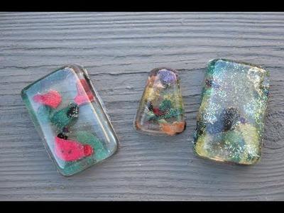 Nail Polish Resin Pendant Craft Tutorial