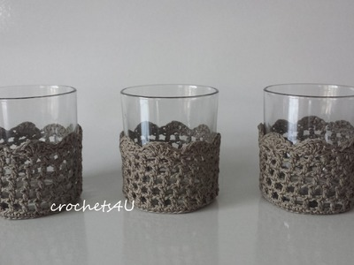 Onlineclass : how to crochet a glass cozy