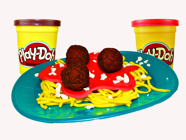 Play Doh Spaghetti Play Dough Food Meatballs and Clay Spaghetti DIY Tutorial