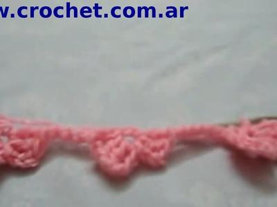 Punto Margarita (Parte 1) en tejido crochet tutorial paso a paso.